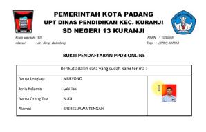ppdb online di google form