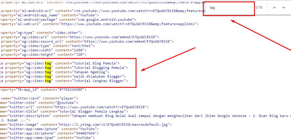 cara ambil tag dari video kompetitor