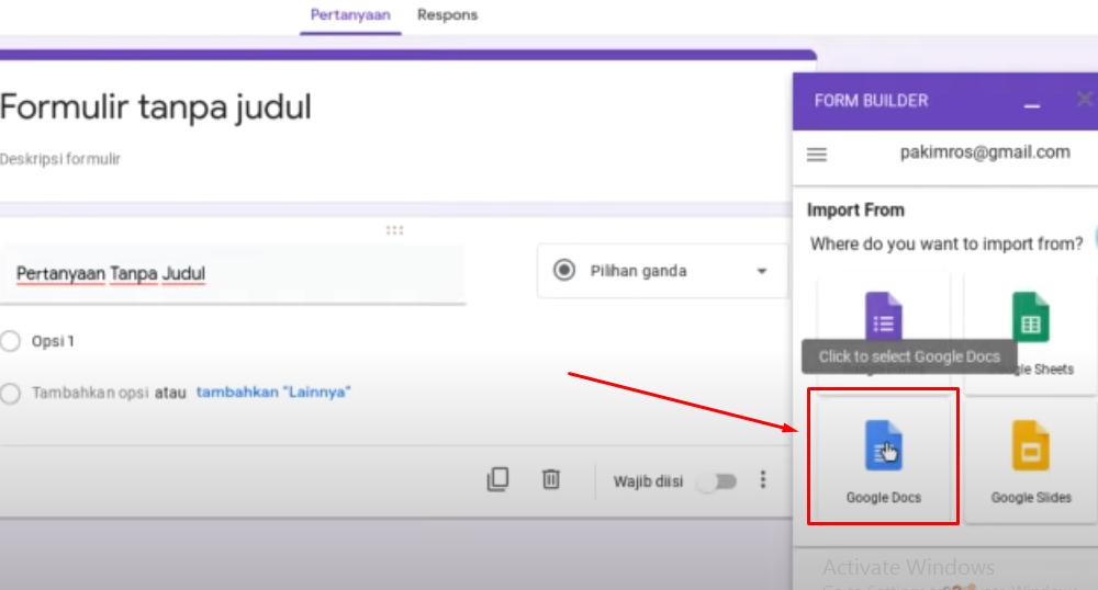 Membuat Ujian Online di Google form