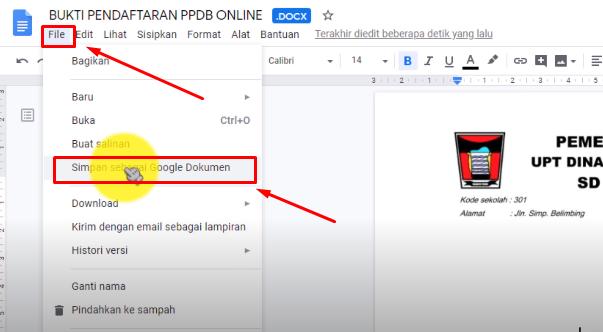 Membuat formulir PPDB Onlien