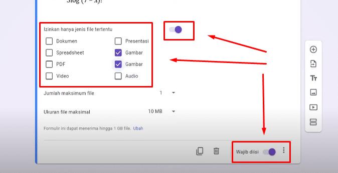 cara buat soal essay di google form