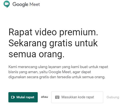 Google meet video converence