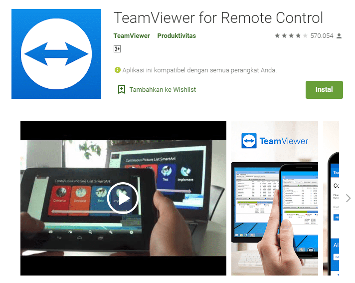 download teamviewer android
