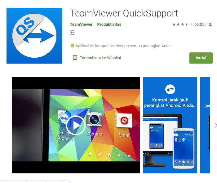 aplikasi android teamviewe