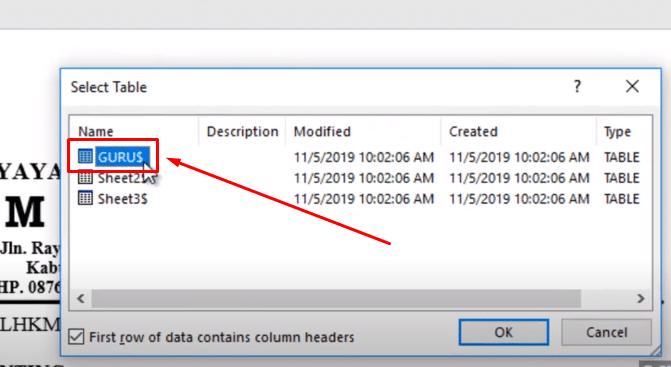 mail merge ms word