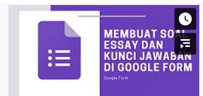 soal essay google form