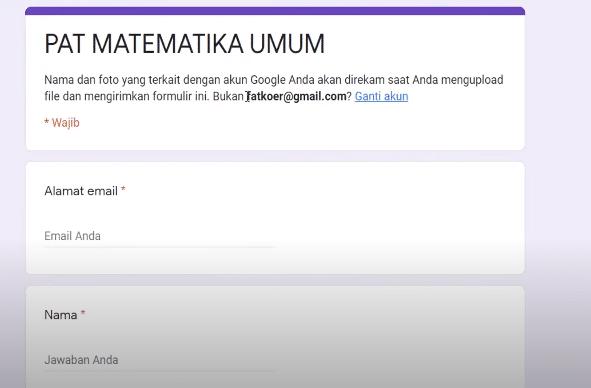 mengerjakan soal ujian essay di google form