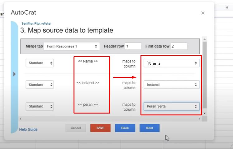 menghubungkan template dengan database