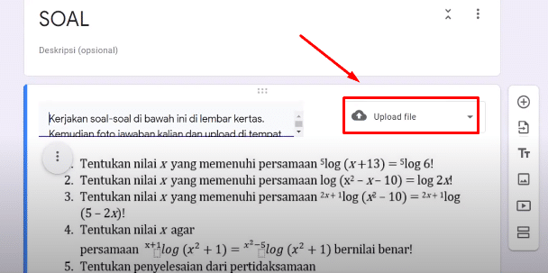 upload file di google form