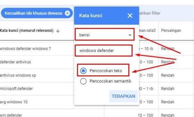 cara cari keyword