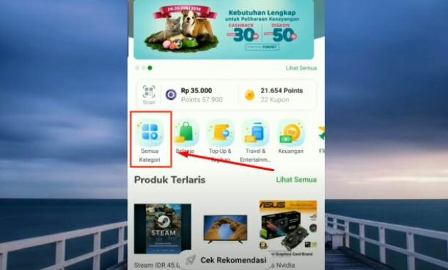 Top up saldo Google play di hp
