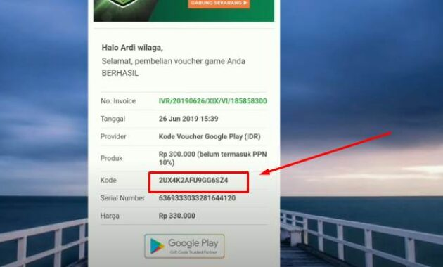 Cara top up saldo Google play di android