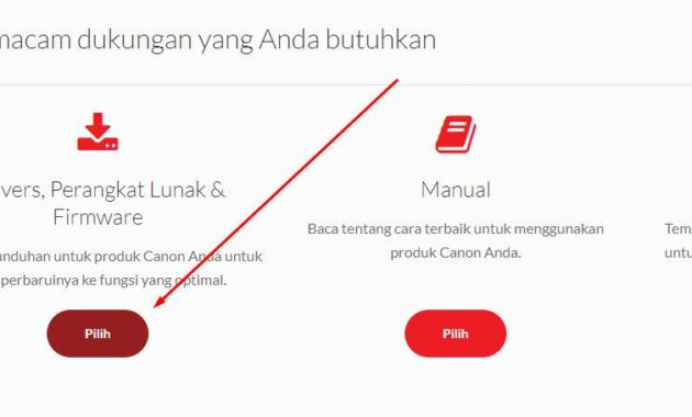 cara download drive printer canon
