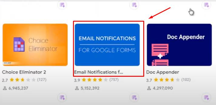 email notification for google forms
