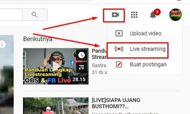 Cara mendapatkan Stream key youtube