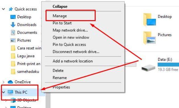 partisi baru windows 10