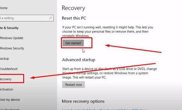 cara reset windows 10 yang aman