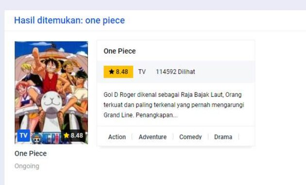 Download anime one piece gratis