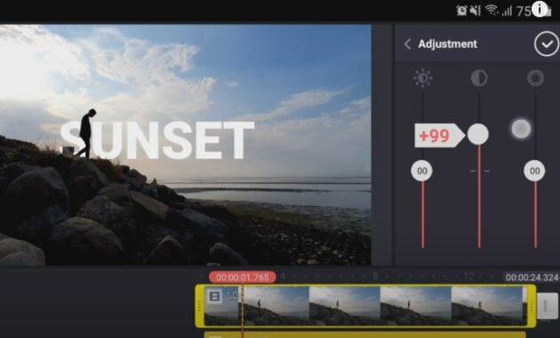 edit kontras video di kinemaster